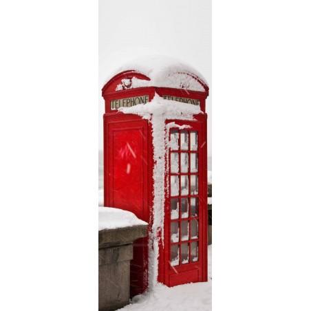 Poster porte cabine London sous la neige