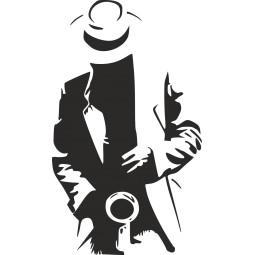 Sticker saxophoniste