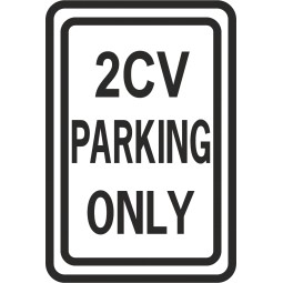 Sticker parking onlu 2 CV