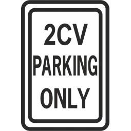 Sticker parking onlu 2 CV