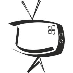 Sticker mural vieux téléviseur