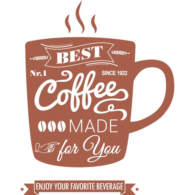 Sticker mural tasse café