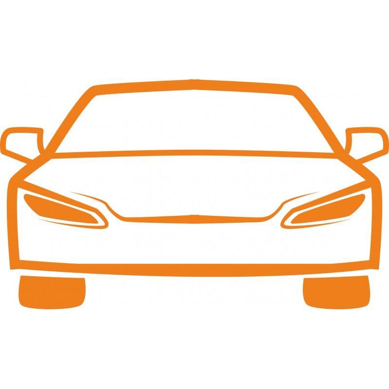 Sticker mural silhouette voiture 3