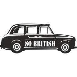 Sticker deco taxi Londres