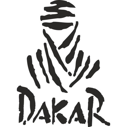 sticker deco logo Dakar 2
