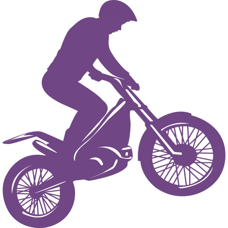 Sticker vinyl moto cross