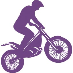 Sticker vinyl moto cross