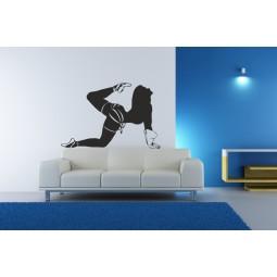 Sticker autocollant mural danseuse