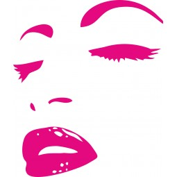 Sticker decoration visage femme