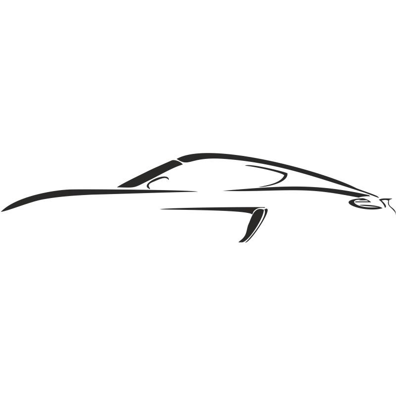 Sticker vinyl silhouette Porsche
