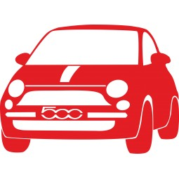 Sticker autocollant Fiat 500