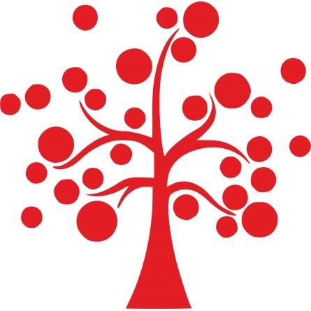 Sticker autocollant arbre