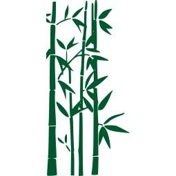 Sticker mural bambous