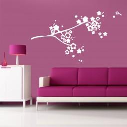 Sticker décoration cerisier