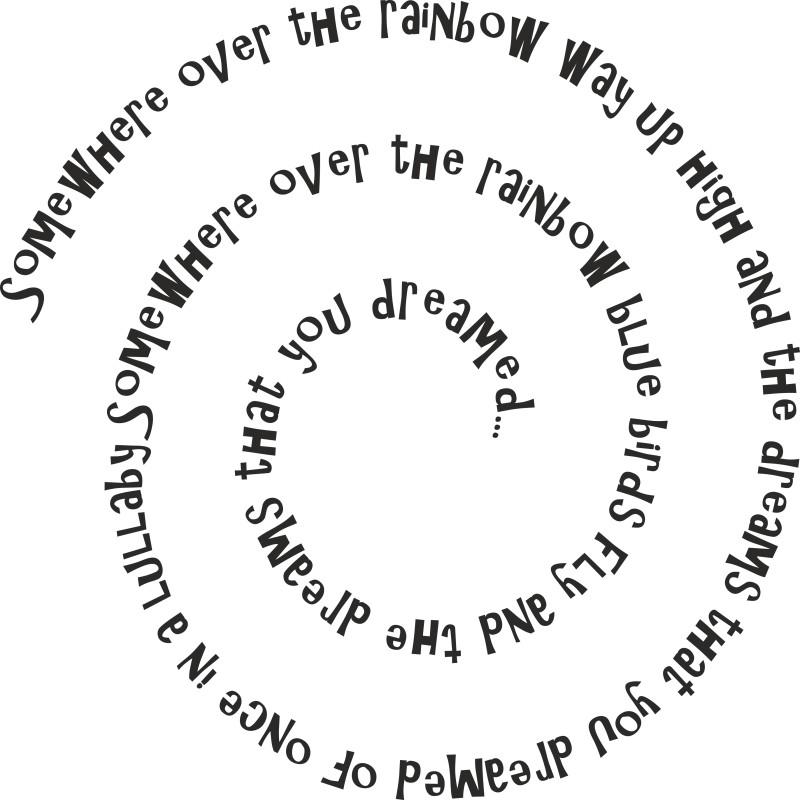 Sticker vinyl phrase enroulée