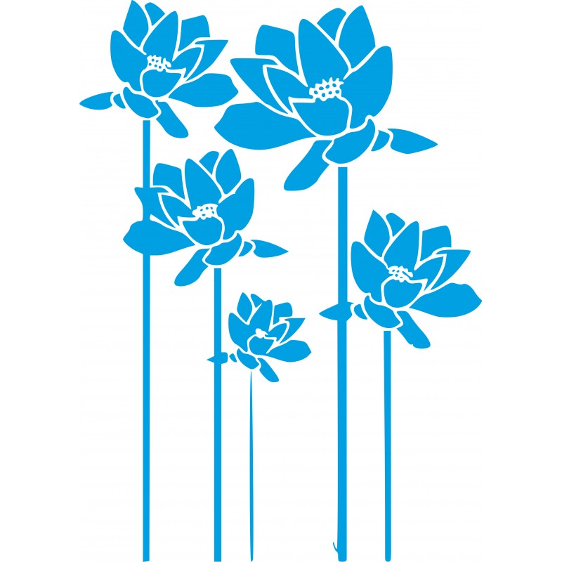Sticker décoration murale les roses