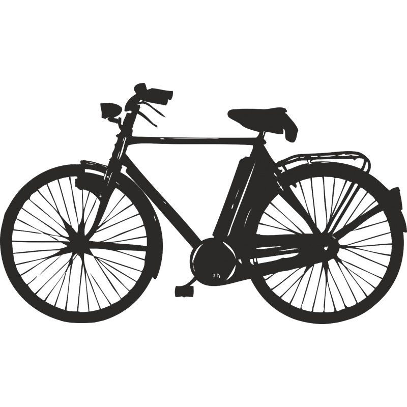 Sticker mural vélo hollandais