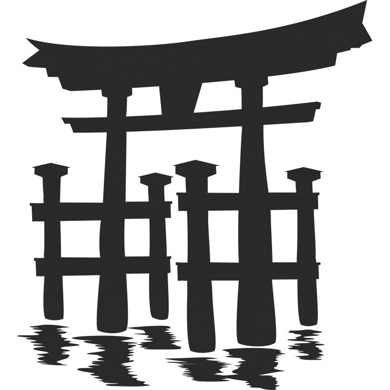 Sticker décoration temple japonais