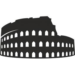 Sticker autocollant colisée Rome
