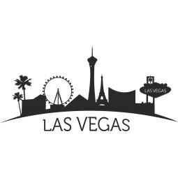 Sticker autocollant mural skyline Las Vegas
