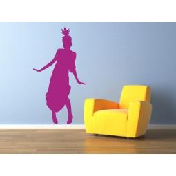 Sticker decoration murale danseuse charleston 3