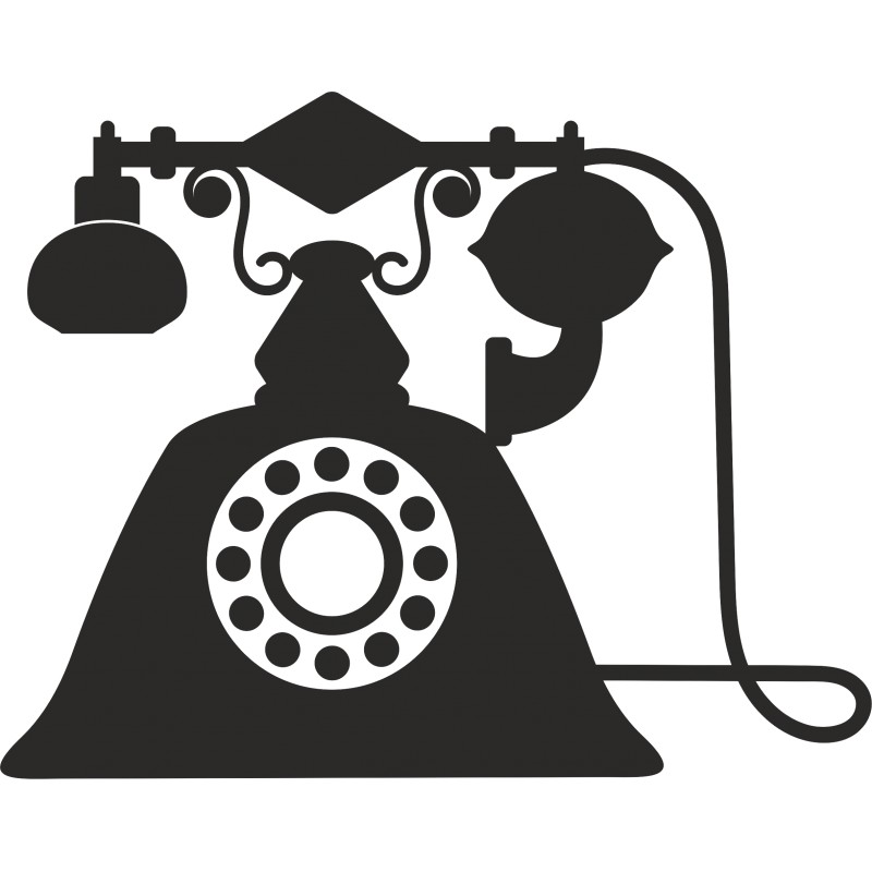 Sticker vinyl telephone vintage