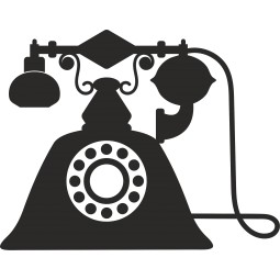 Sticker vinyl telephone vintage