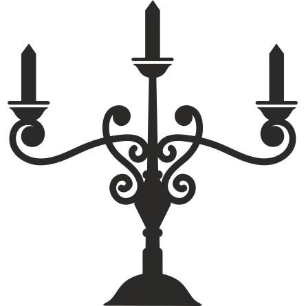 Sticker autocollant chandelier vintage