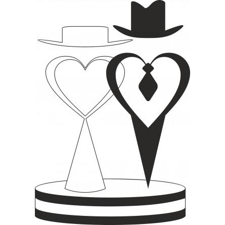 Sticker vinyl les jeunes mariés