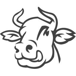 Sticker vinyl autocollant vache