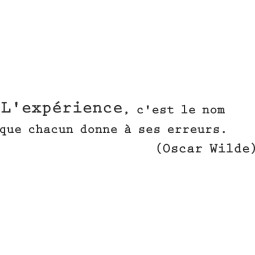 Sticker citation Oscar Wilde