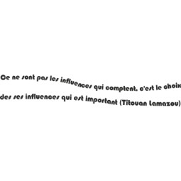 Sticker vinyl phrase Titouan Lamazou
