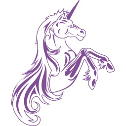Sticker vinyl licorne 1