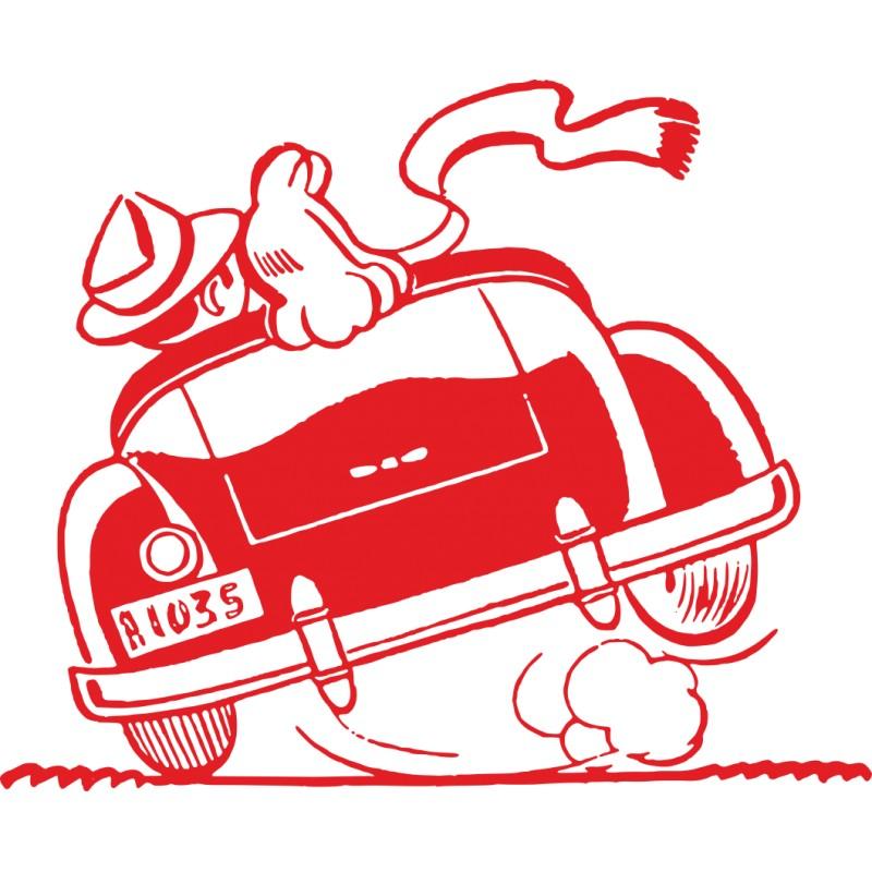Sticker voiture humour