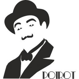 Sticker vinyl Hercule Poirot