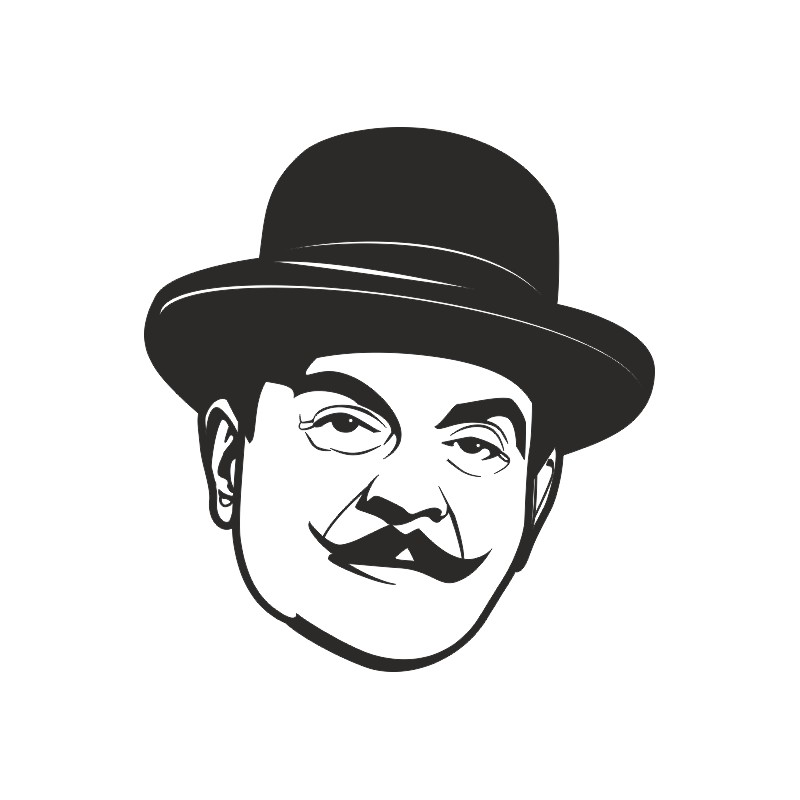 Sticker décoration murale Hercule Poirot 1
