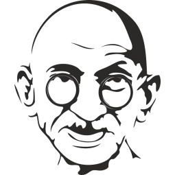 Sticker autocollant Gandhi