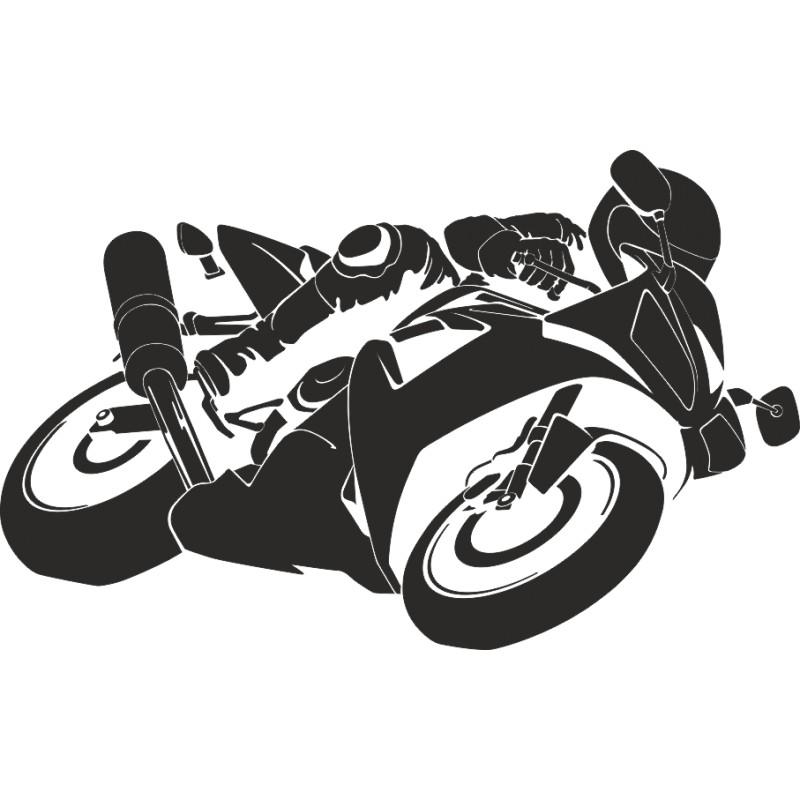 Sticker décoration moto GP