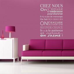 Sticker décoration murale Chez Nous