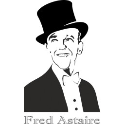 Sticker vinyl autocollant Fred Astaire