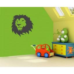 Sticker vinyl décoration tête lion