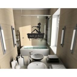 Sticker mural salle de bain
