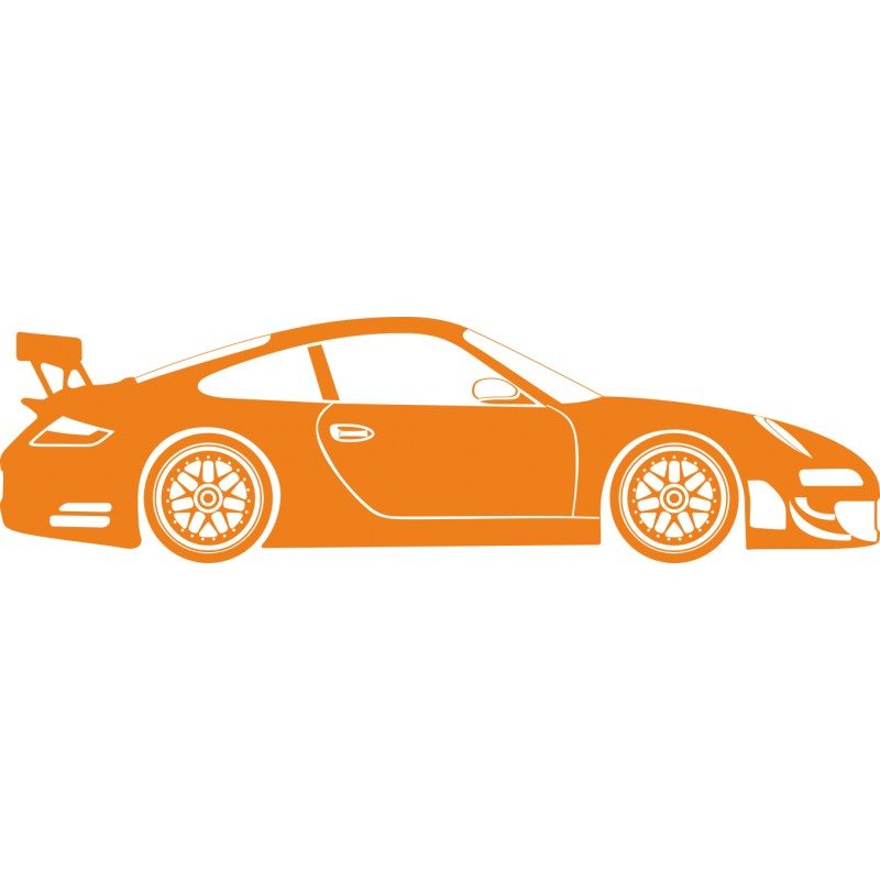Sticker décoration murale Porsche GT
