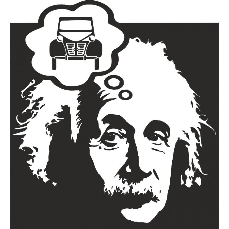 Sticker autocollant Einstein et 2CV