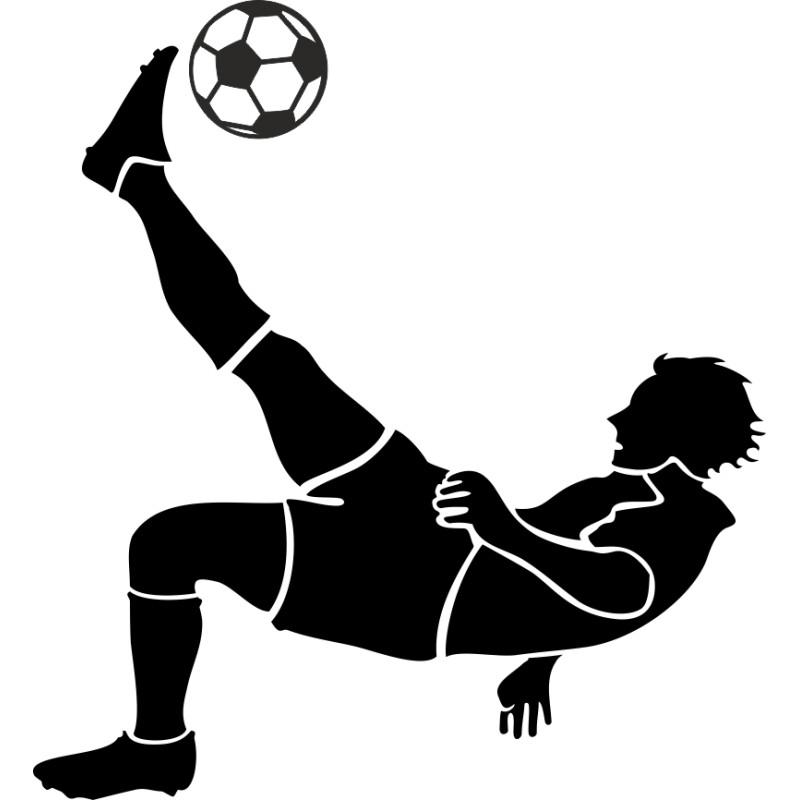 Sticker mural footballeur