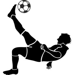 Sticker mural footballeur