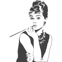 Sticker vinyl Audrey Hepburn