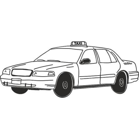Sticker vinyl autocollant taxi NY