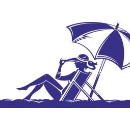 Sticker adhésif Girl on the beach