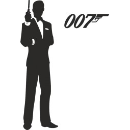 Sticker adhésif James Bond 007